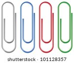 vector paper clip isolated... | Shutterstock .eps vector #101128357