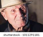 portrait of 92 years aged... | Shutterstock . vector #1011291181