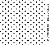 seamless black and white swiss... | Shutterstock .eps vector #1011293131