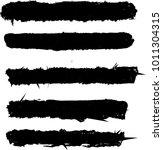 5 brush set for text space.... | Shutterstock .eps vector #1011304315