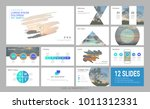 presentation template with... | Shutterstock .eps vector #1011312331