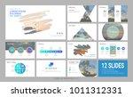 presentation slide template for ...   Shutterstock .eps vector #1011312331