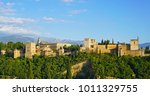 the alhambra palace and... | Shutterstock . vector #1011329755