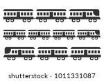 vintage train icon set  black... | Shutterstock .eps vector #1011331087