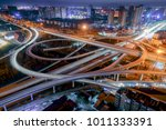 modern city crossing road | Shutterstock . vector #1011333391