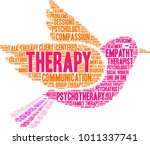 therapy word cloud on a white... | Shutterstock .eps vector #1011337741