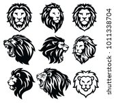 Stock vector lion logo set premium design collection vector illustration 1011338704