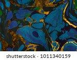 ink marble texture. ebru... | Shutterstock . vector #1011340159
