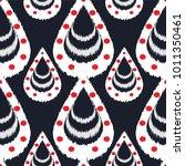 ikat seamless pattern design...   Shutterstock .eps vector #1011350461