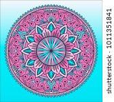 beautiful mandala. round... | Shutterstock .eps vector #1011351841