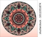 beautiful mandala. round...   Shutterstock .eps vector #1011351874