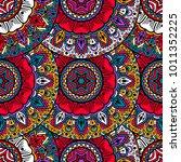 vector seamless pattern ethnic...   Shutterstock .eps vector #1011352225