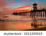 incredible colors of sunset by... | Shutterstock . vector #1011355015