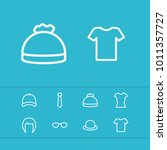 clothing icons set with t shirt ...