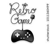 gamepad or joypad black color... | Shutterstock .eps vector #1011360499