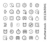 modern outline style time icons ... | Shutterstock .eps vector #1011365041