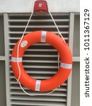 Small photo of Ring life raft in the pool