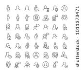 set of premium human icons in... | Shutterstock .eps vector #1011373471