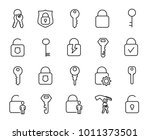 simple collection of keys and... | Shutterstock .eps vector #1011373501