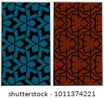 monochrome seamless patterns... | Shutterstock . vector #1011374221