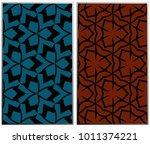 monochrome seamless patterns... | Shutterstock . vector #1011374221