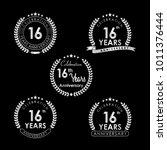 16 years anniversary... | Shutterstock .eps vector #1011376444