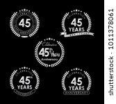 45 years anniversary... | Shutterstock .eps vector #1011378061