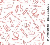 seamless pattern of different...   Shutterstock .eps vector #1011382339