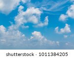 blue sky and white clouds | Shutterstock . vector #1011384205