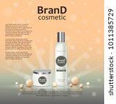 3d realistic cosmetic bottle...   Shutterstock .eps vector #1011385729