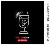 cocktail vector icon...