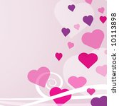 pink hearts background | Shutterstock . vector #10113898
