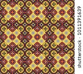seamless abstract pattern with... | Shutterstock . vector #1011391639
