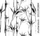 leaves branches stem bamboo... | Shutterstock .eps vector #1011392884