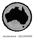 map of australia on a timber... | Shutterstock . vector #1011394909