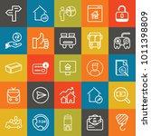 business outline vector icon... | Shutterstock .eps vector #1011398809
