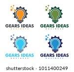vector logo design of light... | Shutterstock .eps vector #1011400249