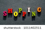 the word shopping made of... | Shutterstock . vector #1011402511