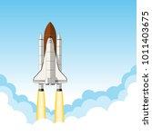 space shuttle launch.... | Shutterstock .eps vector #1011403675