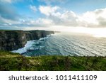 the cliffs of moher  irelands... | Shutterstock . vector #1011411109