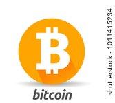 bitcoin sign icon flat design...   Shutterstock .eps vector #1011415234