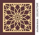 laser cutting panel. golden...   Shutterstock .eps vector #1011417349