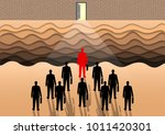 many businessmen are competing...   Shutterstock .eps vector #1011420301