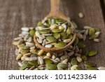 bunch of salad seed mix | Shutterstock . vector #1011423364