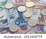 new saudi riyal banknotes and... | Shutterstock . vector #1011425779