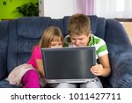 children are looking at the... | Shutterstock . vector #1011427711
