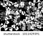 illustration with spring... | Shutterstock .eps vector #1011429391