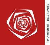 rose. vector flower. beautiful...   Shutterstock .eps vector #1011429859