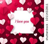 valentines day background with... | Shutterstock .eps vector #1011432811