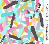 paint brush strokes background. ...   Shutterstock .eps vector #1011433219